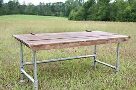 galvanized pipe desk | ... big and has wide galvanized pipe legs. The