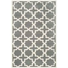 ham dark grey ivory 6 ft x 9 ft area rug