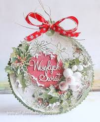Kartka świąteczna - bombka - Pakamera.pl | Christmas cards to make,  Christmas cards handmade, Christmas crafts