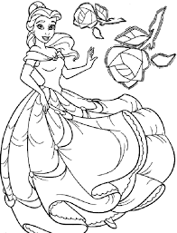 disney belle colouring pages free printable coloring and princess throughout