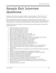 Sample Resume Questions Resume Writing Questions And Answers Hr Sample Exit Interview 7