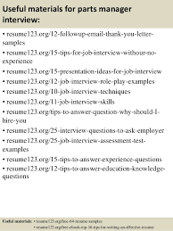 14 useful materials for parts parts of a resume