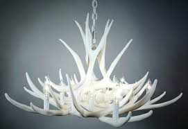 white antler chandelier international light white antler chandelier