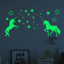 Glow In The Dark Stars Wall Stickers For Kids Baby Bedroom Ceiling Home  Decor Luminous Stars Unicorn Wall Stickers - buy from 5$ on Joom e-commerce  platform