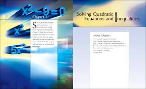 solving quadratic equations inequalities