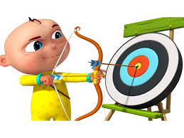 playing cartoon zool babies playing archery cartoon animation for children five