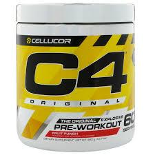 cellucor c4 original explosive pre workout fruit punch 12 7 oz 360 g