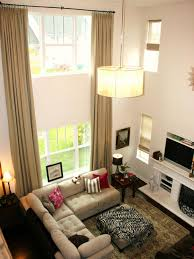 Two Story Living Room Curtains Chic Window Treatment Ideas From Hgtv Fans Hgtv