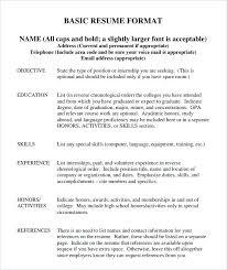 Resume Setup Example Address Format Resumes Resume Address Format