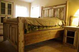 photos of wood door headboard