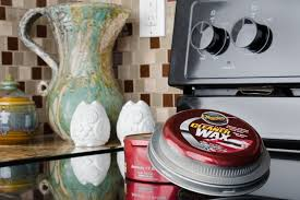 make future glass cooktop spills easy to clean up with car wax