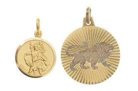 two gold pendant charms 18ct st