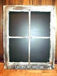 vintage window frames old frame decor chalkboard on antique wooden for