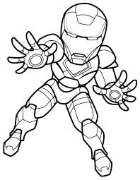 Iron Man Coloring Pages Kids Spiderman Page Mini Super Hero Squad