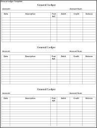 the general ledger of a business general ledger template free word templates