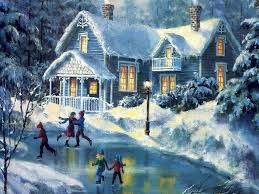 Christmas Scenes Free Downloads 35 Winter Christmas Scenes Desktop Wallpapers Download At