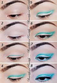 gorgeous blue winged eye makeup tutorial