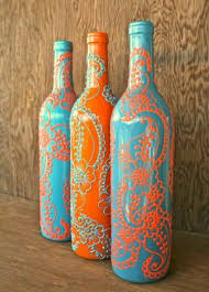 Decorative Wine Bottles Ideas Painted wine bottles diy beautifulswitch by clare Caft Ideas 77
