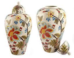 Ваза Русские подарки Райский сад 21х21х40 см ручная роспись ...