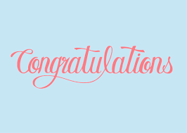 Congratulations Design Congratulations Word Typography Design Illustration