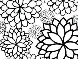 Free Flower Coloring Pages Showideeinfo