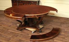 circular expanding table expandable round dining table plans diy expanding round table