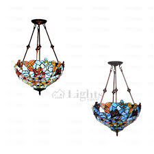 rustic stained glass shade hanging light fixtures