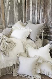 ruffled pillow shams. Perfect Ruffled Vintage Ruffle Pillow Shams From Full Bloom Cottage To Ruffled