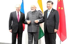 Meeting between leaders of Russia, India and China • President of Russia