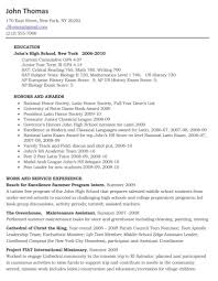 How To Format High School Resume Forge Applications Write