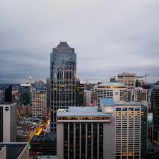 Seattle Cityscape Downtown Seattle Cityscape Duvet Cover