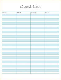 Sample Guest List Template Memorandum Memorial Program Templates ...