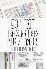 50 Habit Tracker Ideas For Bullet Journals Bullet Journal