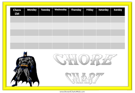 Batman Behavior Chart 9 Best Photos Of Free Printable Reward Charts Batman Free