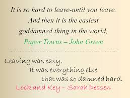 Paper Towns Quotes Fascinating Paper TownsLock And Key Leaving By Bookworm48 On DeviantArt