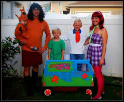 scooby doo costume with a homemade van