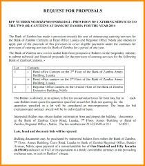 Catering Proposal Letter Awesome Sample Proposal Letter Format For Catering Services Request F