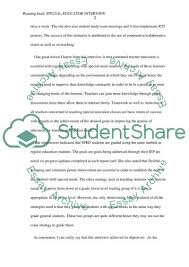 Example Of An Interview Essay The Structured Interview Method Essay Example Topics And