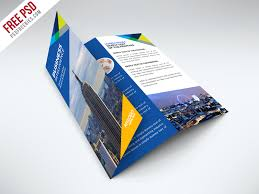 Free Business Trifold Brochure Psd Template By Psd Freebies