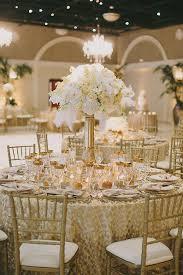 Glamorous Art Decor Inspired Wedding Reception   Jake and Necia Photography    Glamorous Gatsby Inspired White. Gold Wedding CenterpiecesReception ...