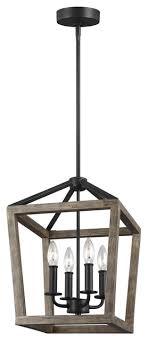 gannet 4 light chandelier weathered oak wood antique forged