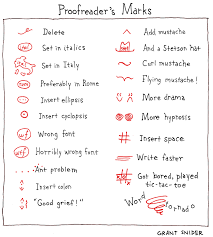 Prototypic Proofreader Marks Chart Proofreading Chart
