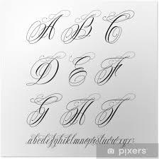 Plakát Tetování Abeceda