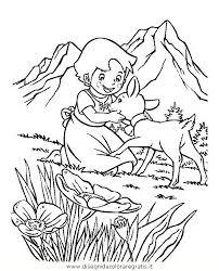 Disegno Heidi04 Personaggio Cartone Animato Da Colorare
