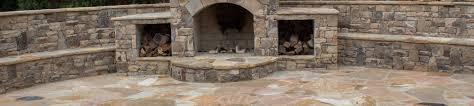mortared flagstone patio