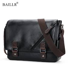 <b>BAILLR Brand</b> fashion pu leather mans <b>bag</b> vintage zipper <b>men</b> ...