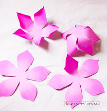 Making Of Flower With Paper Flower Making With Paper Free Template And Step By Step