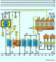 Электрическая схема контрольных ламп охлаждающей жидкости и износа  Электрическая схема контрольных ламп охлаждающей жидкости и износа тормозных колодок audi 100