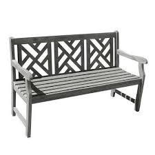 renaissance hand sed acacia herringbone back patio bench