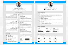Modern Resume Icon Microsoft Office Resumes Alexander Resume Template Timeline Colored